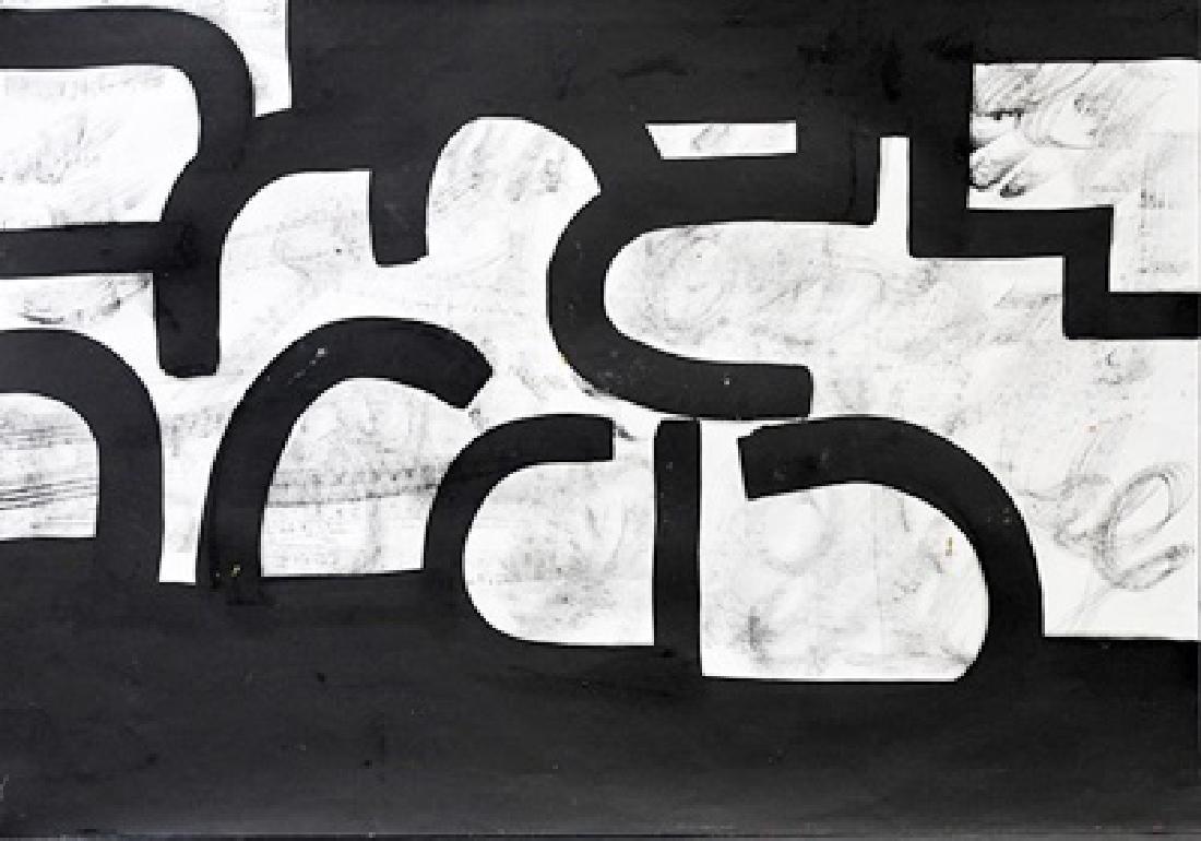 Richard Serra - Oil On Paper
