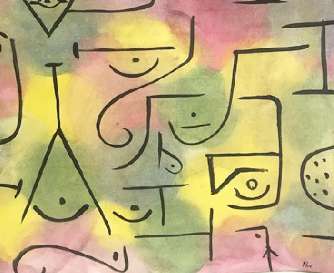 In Memorian - Paul Klee - Oil On Paper
