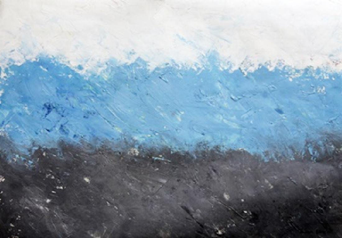 The Sea - Theodoros Stamos - Oil On Paper