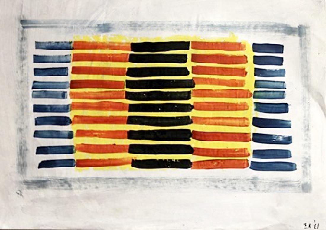 The Fire - Ellsworth Kelly - Oil On Paper