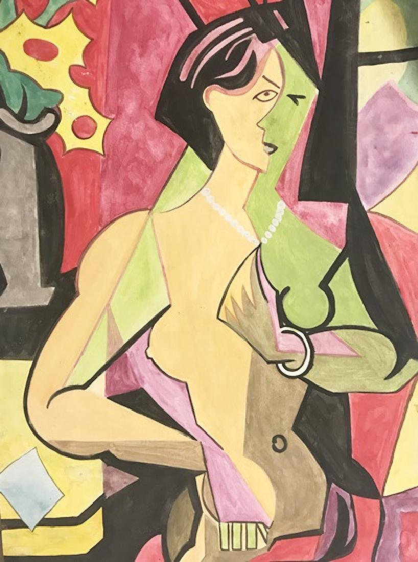 Woman Nude - Andre Lhote - Watercolor On Paper
