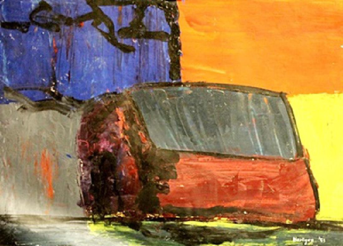 The House - Grace Hartigan - Oil On Paper