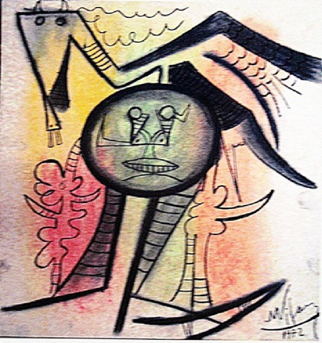 Wifredo Lam - Boy with Bird