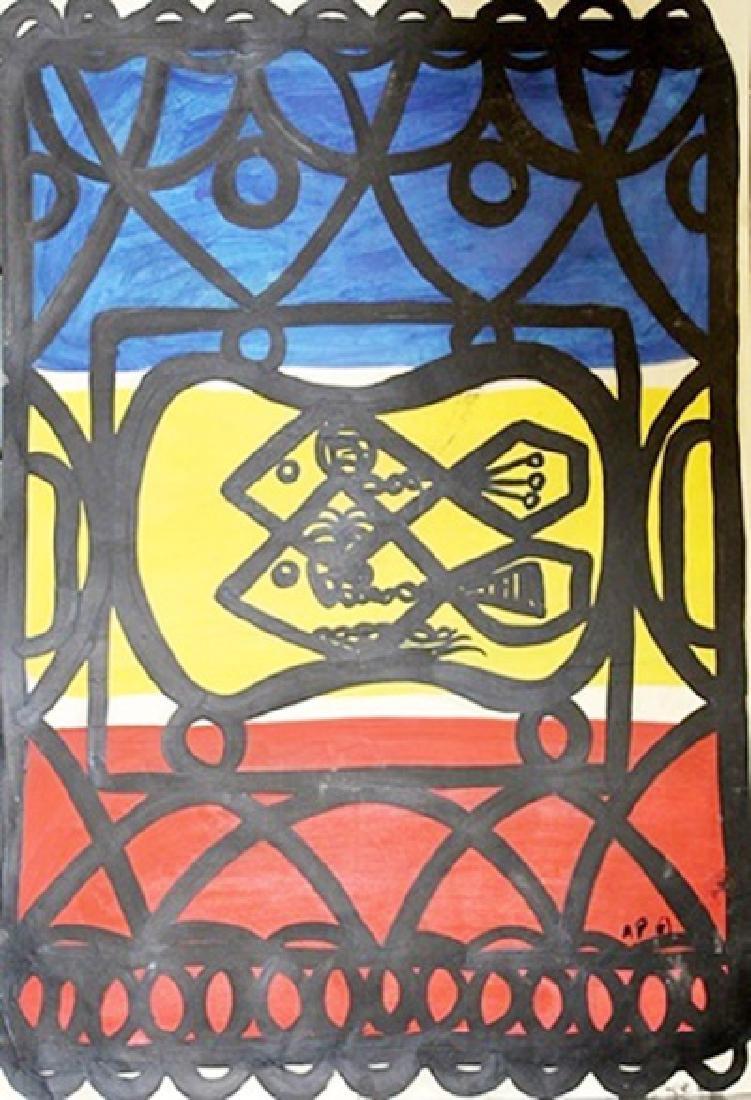 Two Fish - Amelia Pelaez - Oil On Paper
