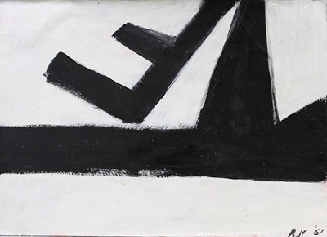 Infinity - Robert Motherwell - Oil On Paper