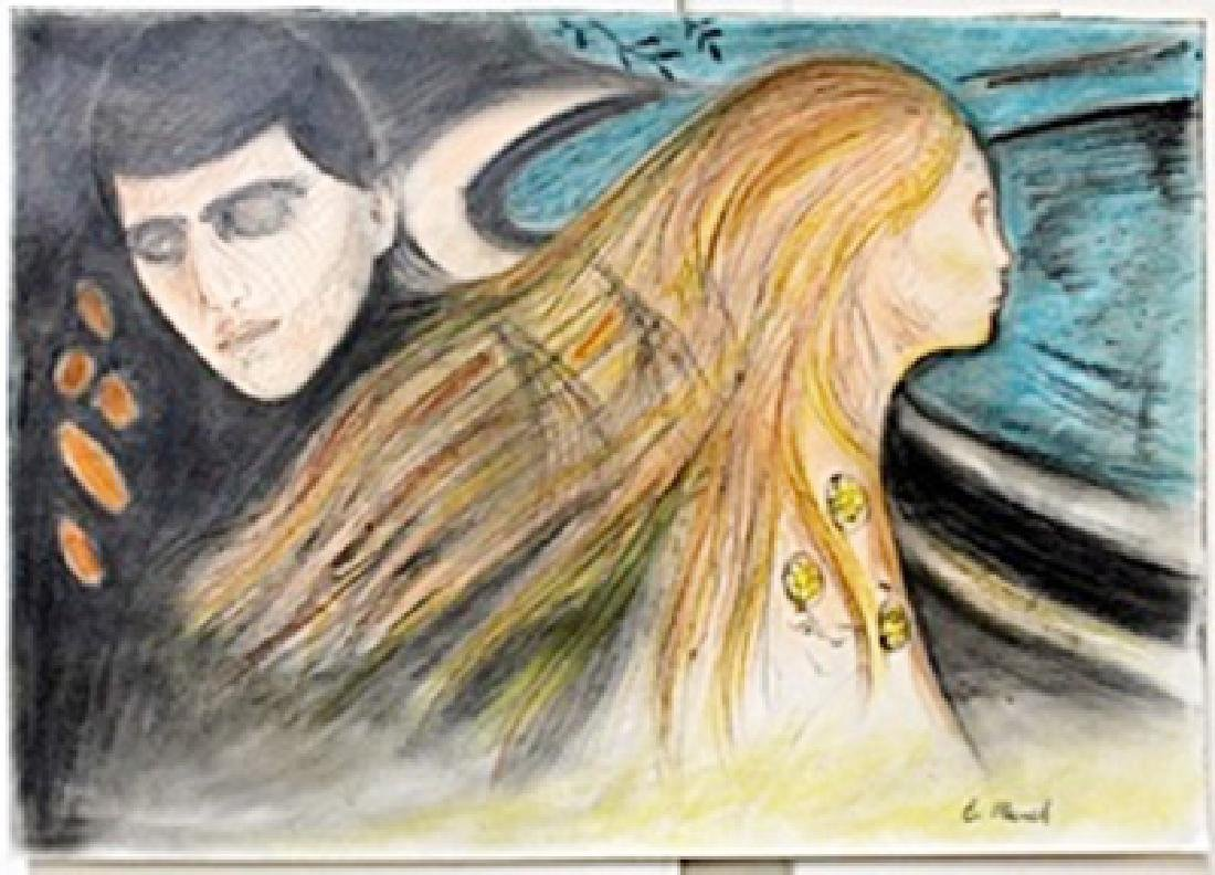 Pastel Painting on Paper  Edvard Munch