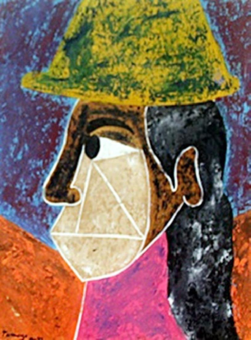 Woman with Hat 1945'  Rufino Tamayo