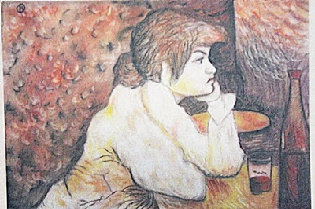 Henri de Toulouse-Lautrec - Woman at a Table