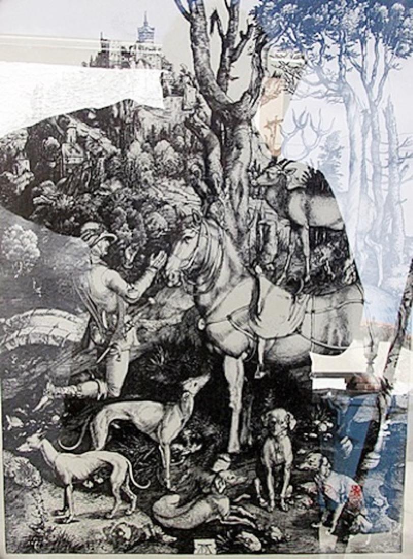 St Eustace - Albrecht Durer - Engraving 153U