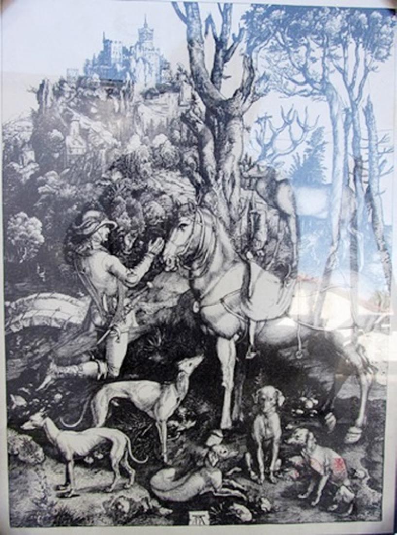 St Eustace - Albrecht Durer - Engraving 61U