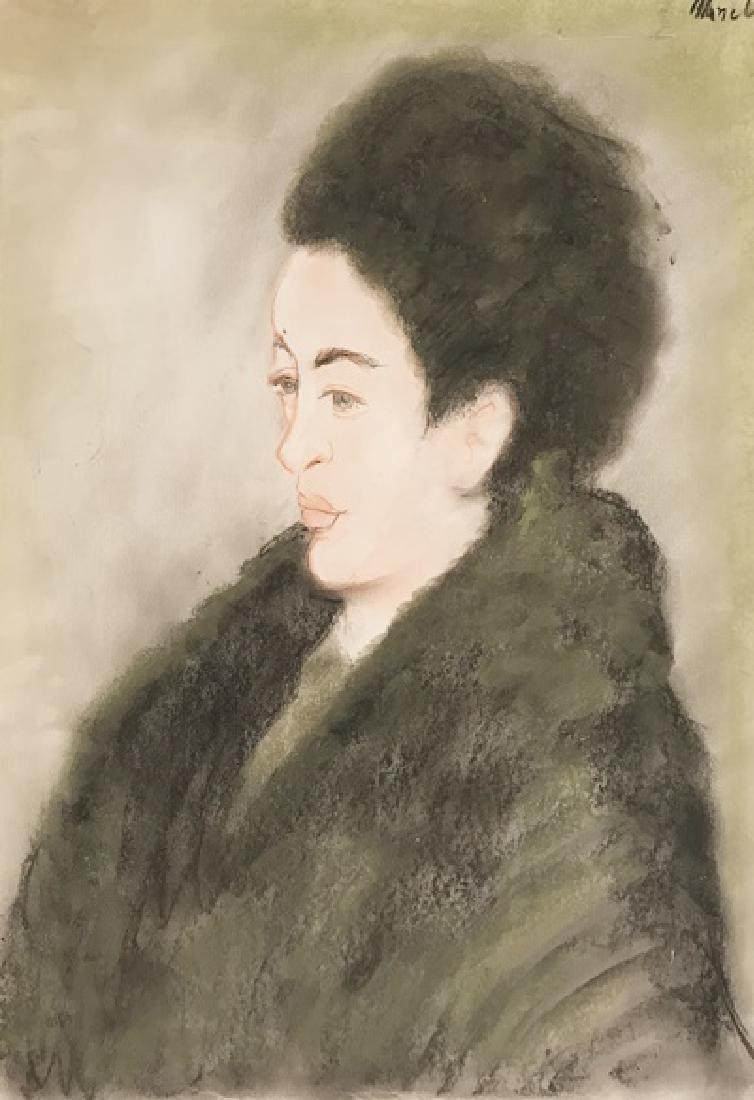 Portrait Of Andrea - Edouard Manet - Pastel On Paper