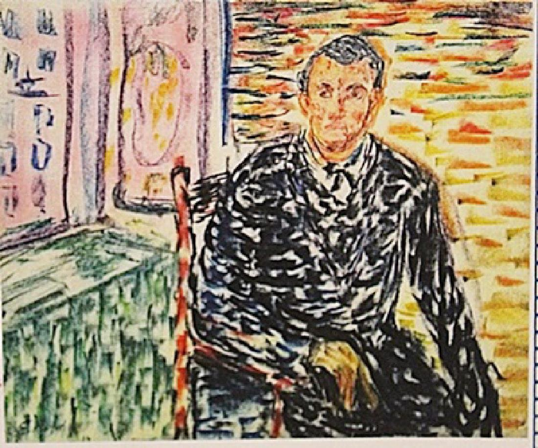 Edvard Munch -Self Portrait
