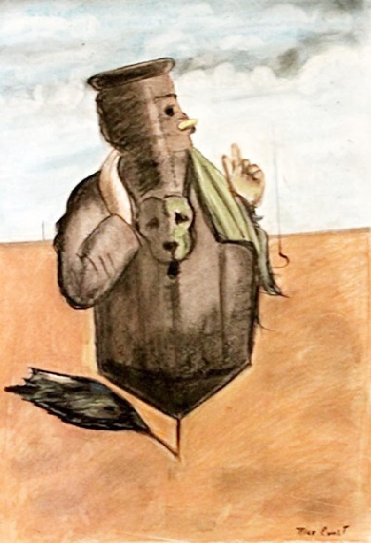 Max Ernst - Pastel On Paper