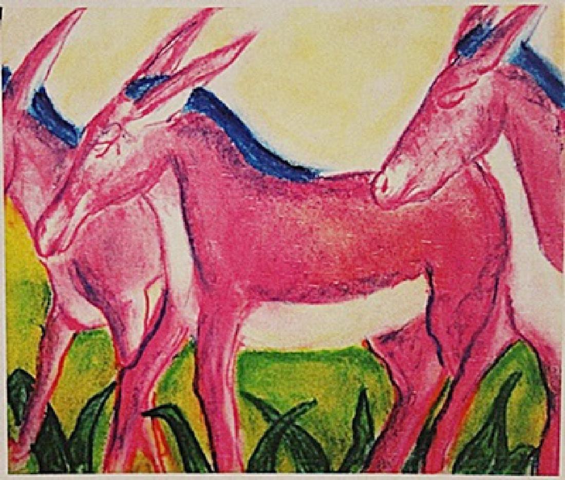Franz Marc - Three Donkeys