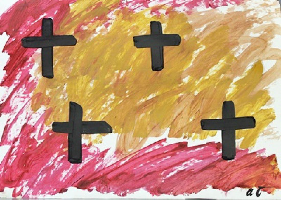 Inferno - Antoni Tapies - Oil On Paper