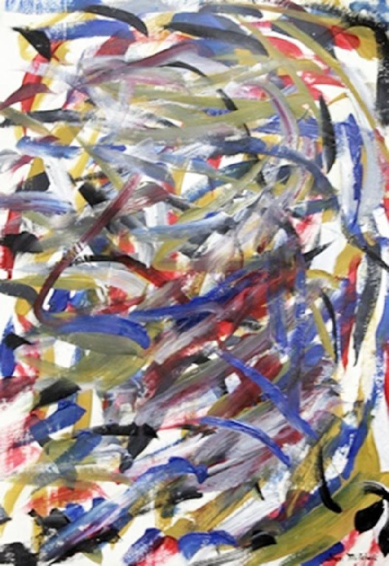 Oil On Paper - Joan Mitchell