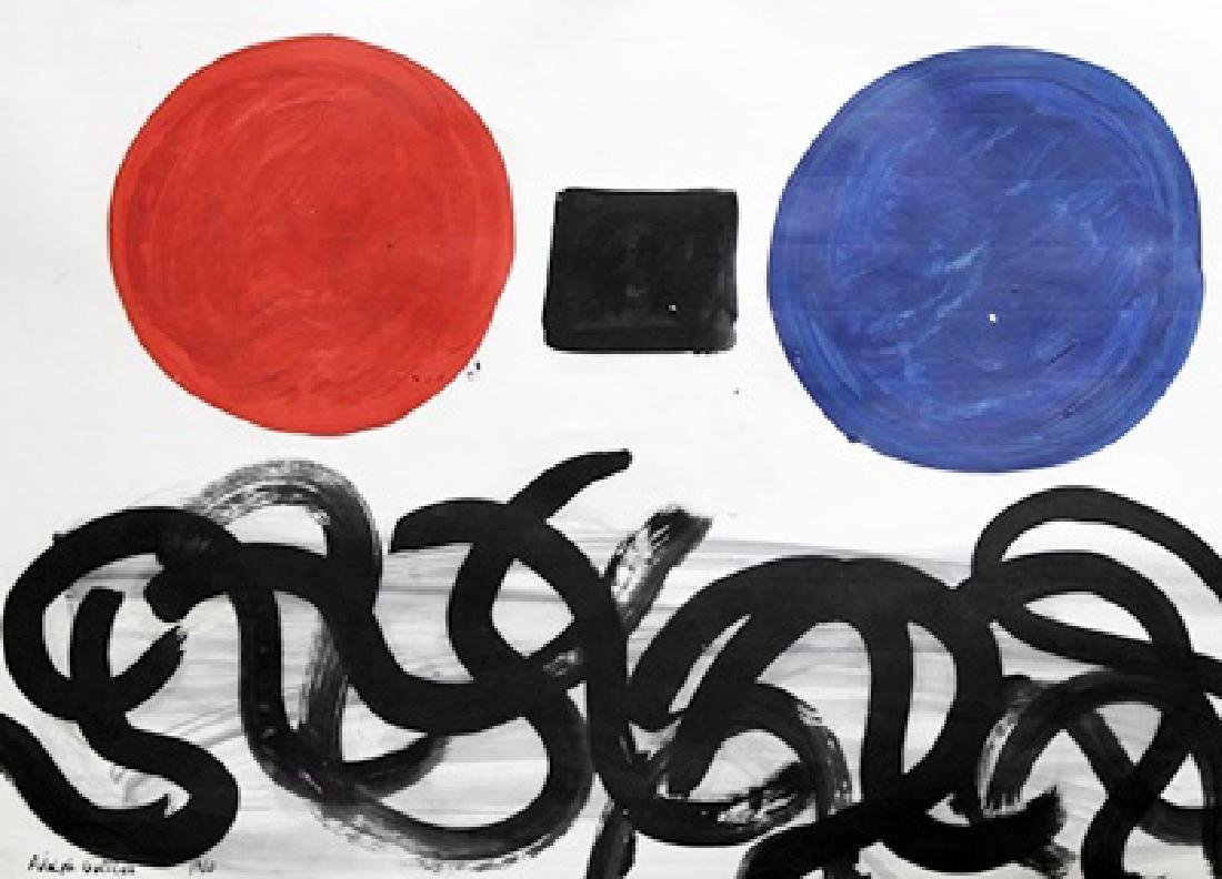 Flotsam - Adolph Gottlieb - Oil On Paper