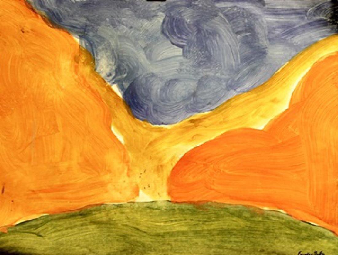 The River - Helen Frankenthaler - Oil On Paper