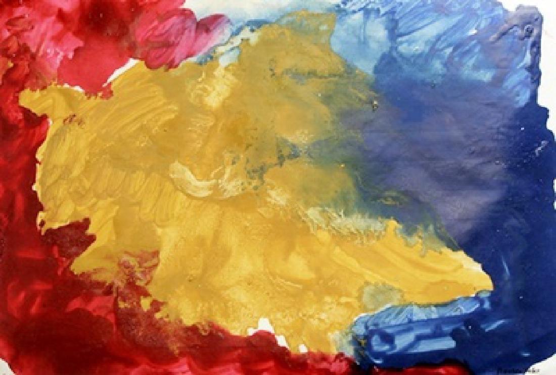 Red Arena - Helen Frankenthaler - Oil On Paper