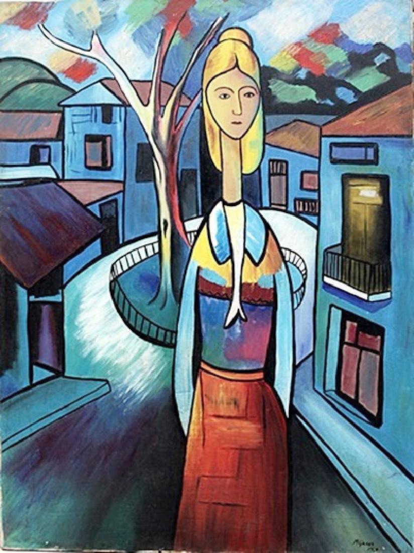 Jose Maria Mijares - Oil On Canvas