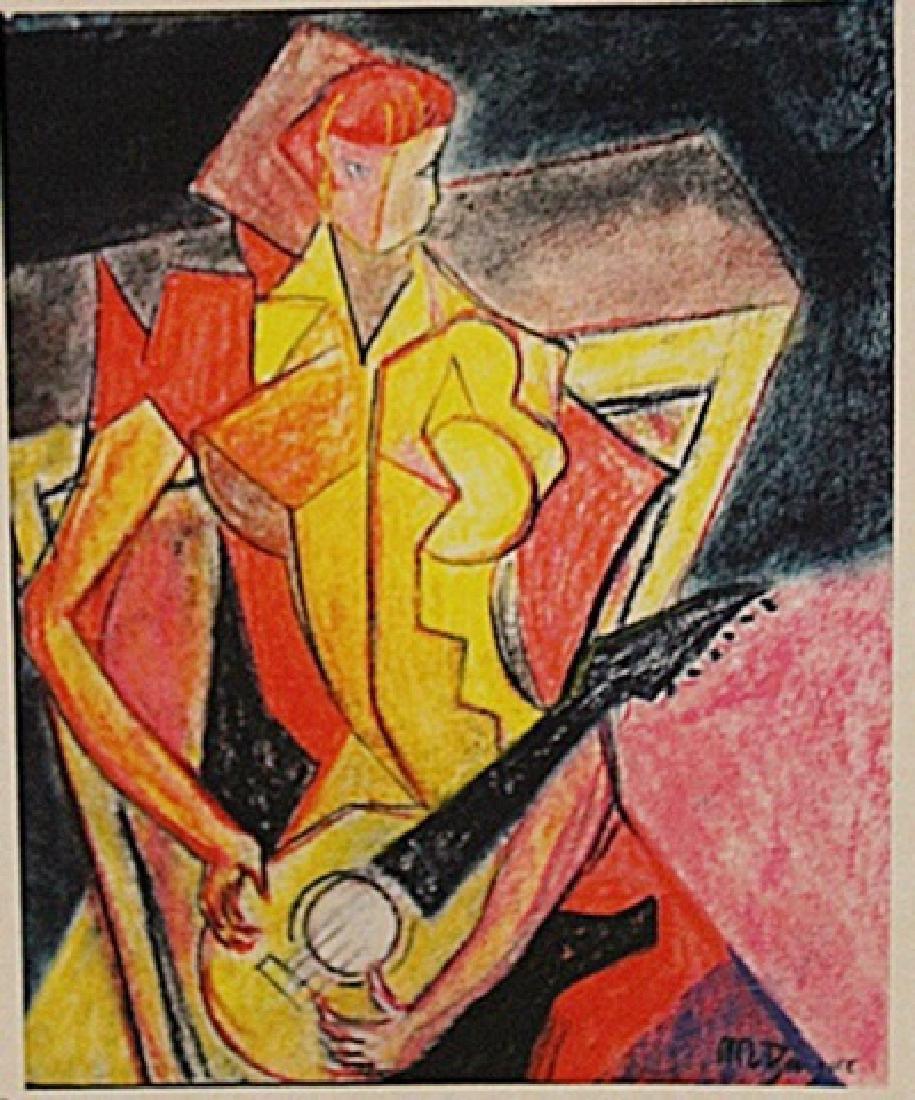 Jean Metzinger - Girl With Guitar