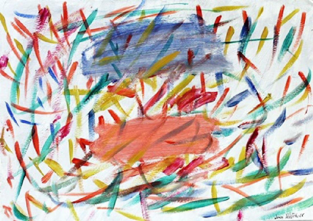 Infinity - Joan Mitchell - Oil On Paper