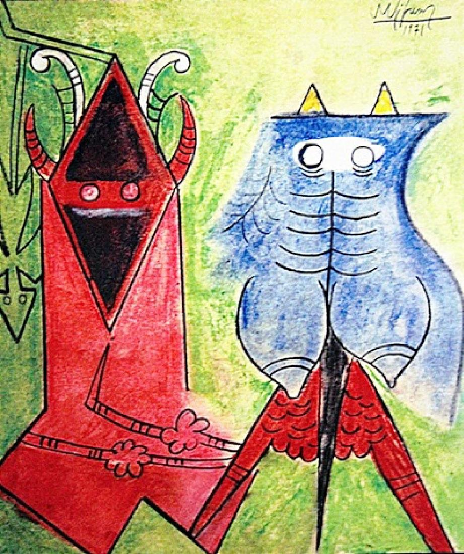 Wifredo Lam - The Lovers