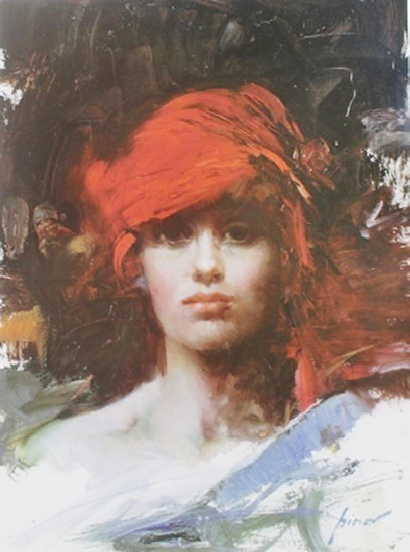 "Giclee on Paper ""Red Turban""  Pino (53ZI)"