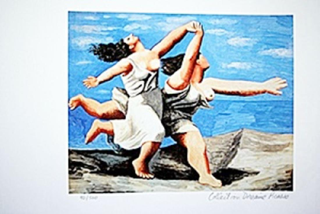 Picasso Limited Edition - Two Women On The Beach - from