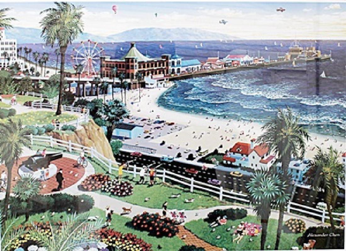 Santa Monica - Alexander Chen - Lithograph