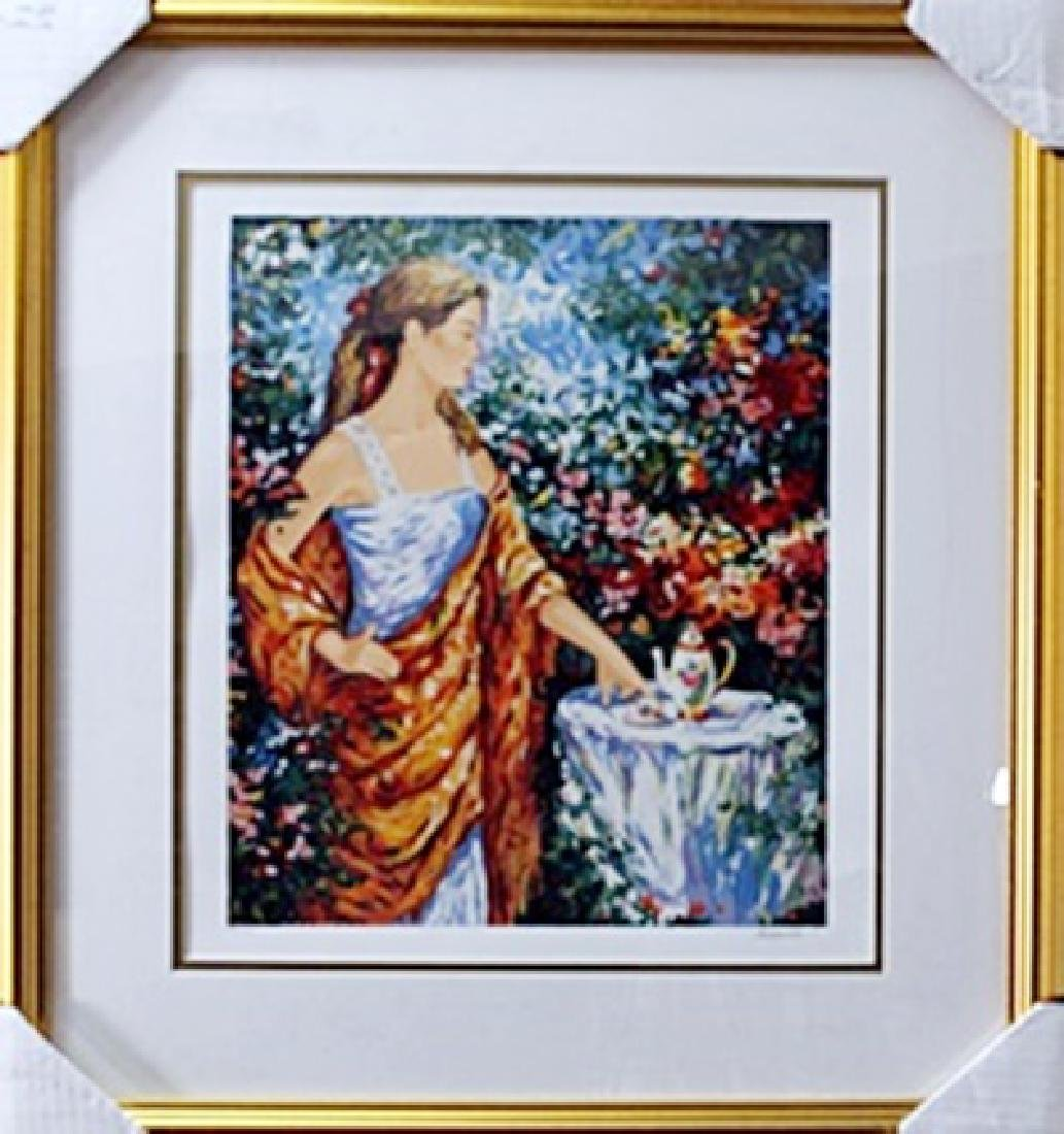 "authentic serigraph ""Teatime"" after Semeko"