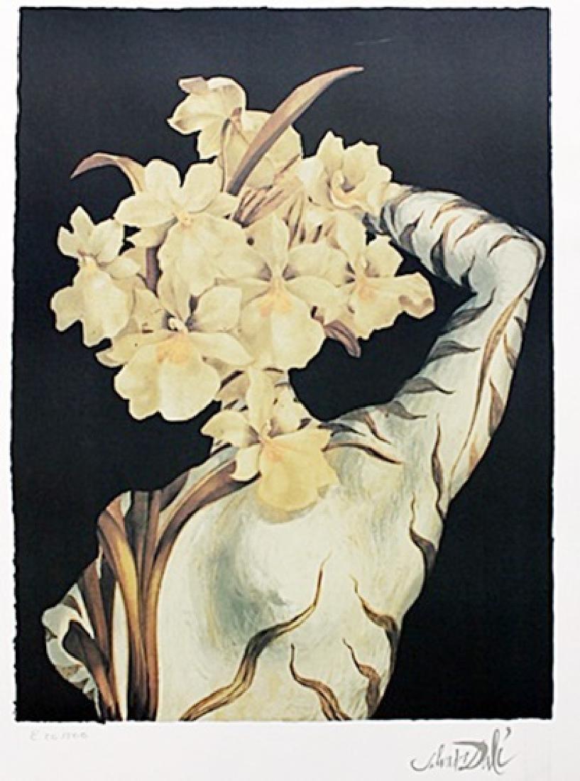 Surrealist Flower - Salvador Dali - Lithograph