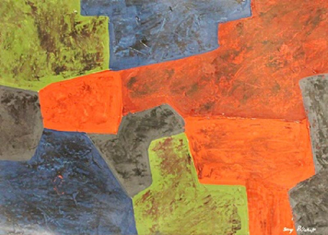 Composition V - Serge Poliakoff - Oil On Paper