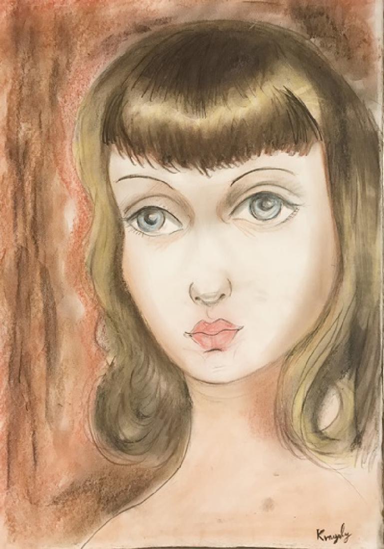 Portrait Cristine - Moise Kisling - Pastel On Paper