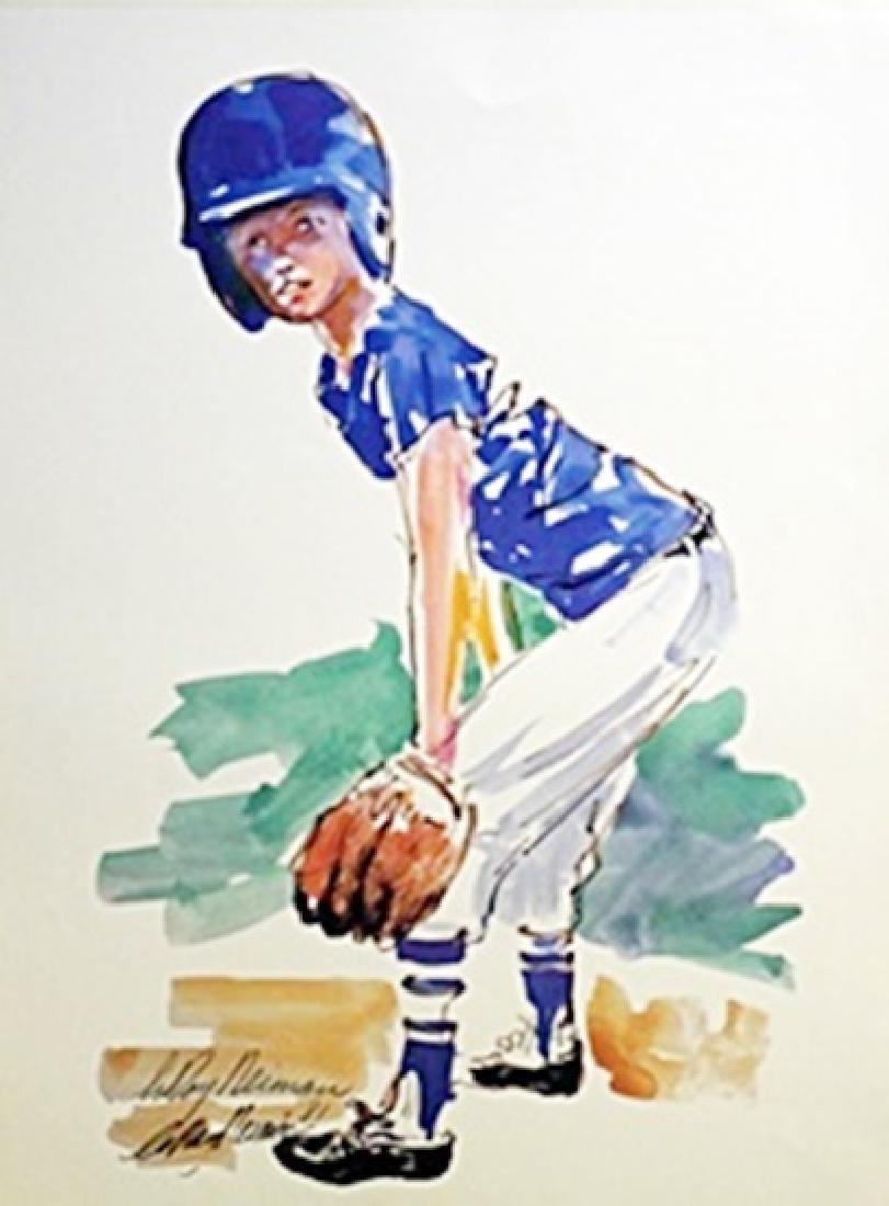 Baseball Player  - LeRoy Neiman