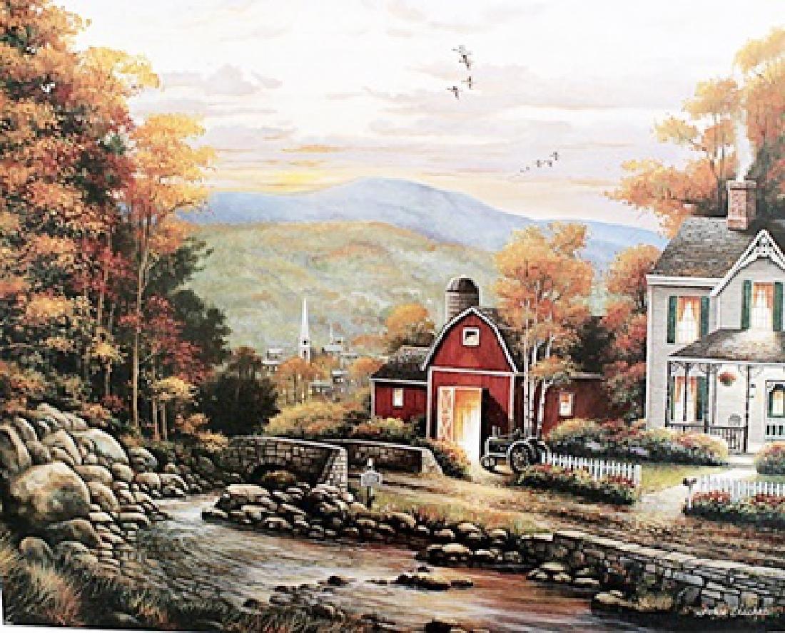 Barn House - John Zaccheo - Lithograph