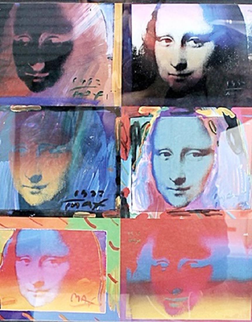 Mona Lisa Collage - Peter Max - Lithograph