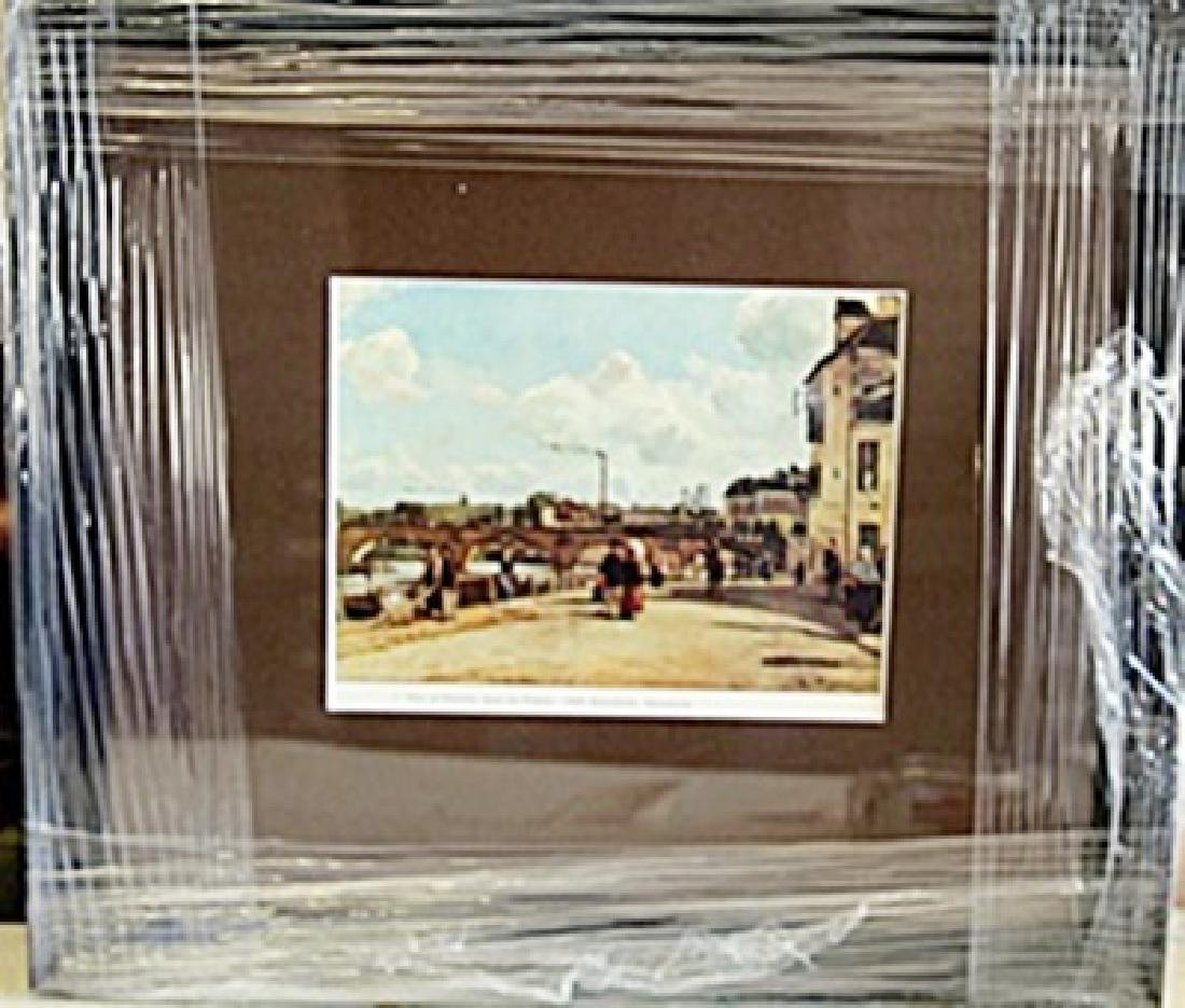 """Framed Lithograph """"View of Pontuise"""" by Pissarro"""