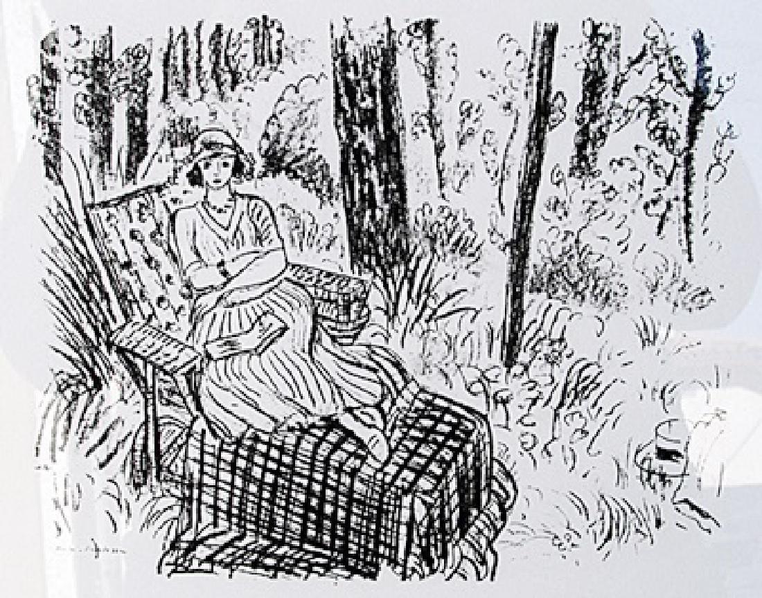 Jeune fille a la chaise longue dans un sous-bois  -