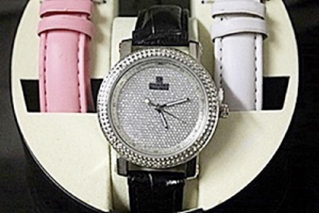 Unisex Very Fancy Diamond Maxx Watch with Exchangeable