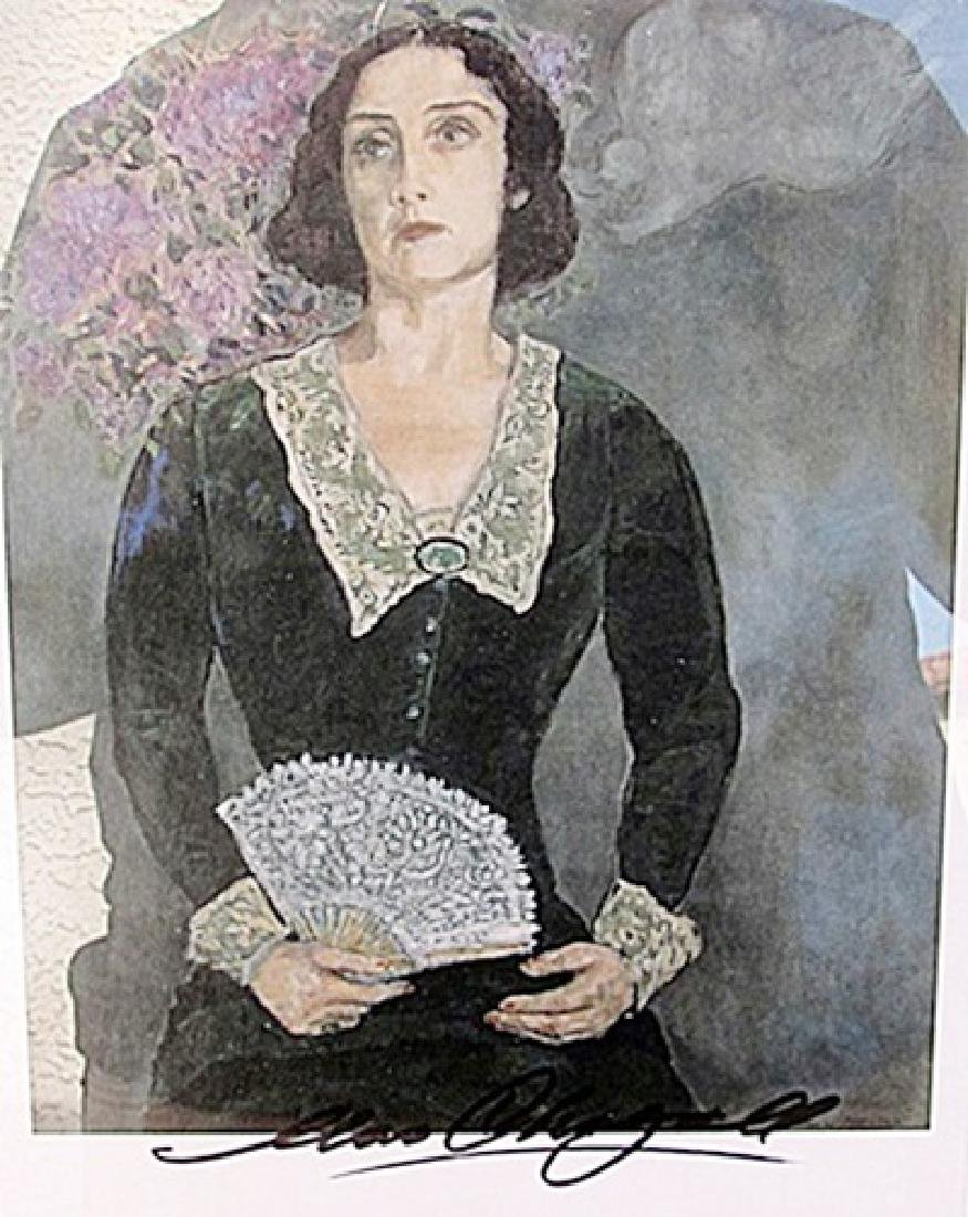 Bella in Green - Marc Chagall - Lithograph