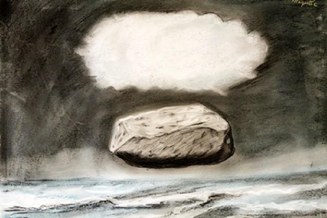 The Dream - Rene Magritte - Pastel On Paper