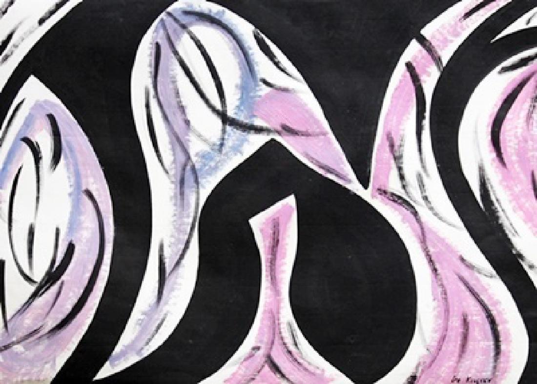 Oil On Paper - Lee Krasner