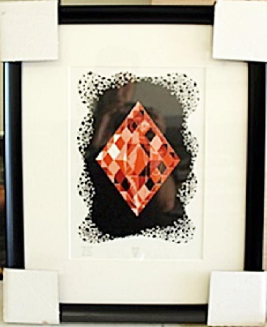 "Framed Lithograph ""The Aces"" by Erte"