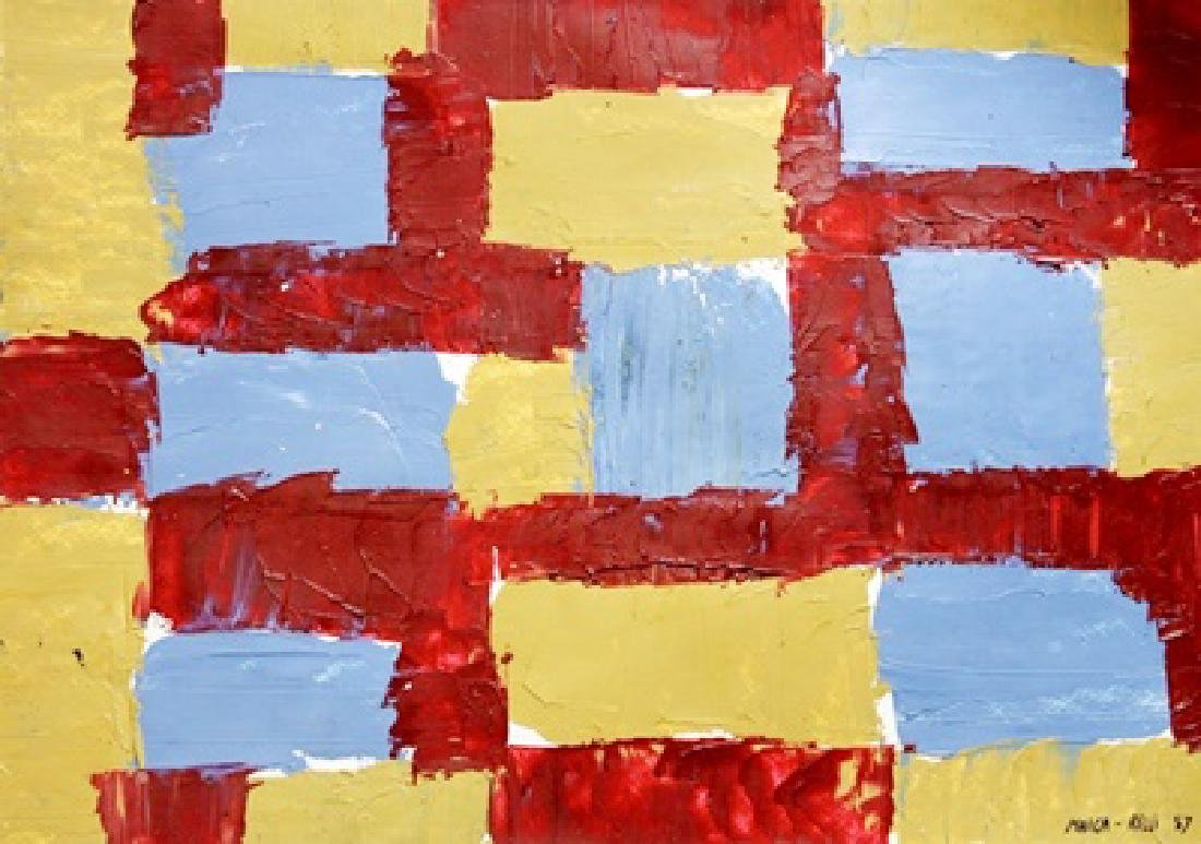 The Wall - Conrad Marca Relli - Oil On Paper