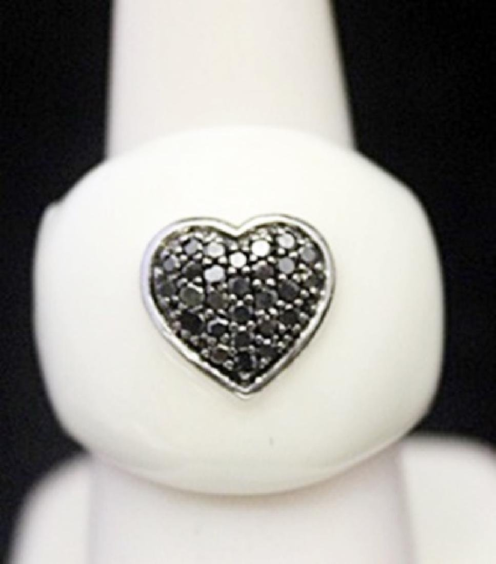 Gorgeous Silver Ring with Mother of Pearl & Heart Shape