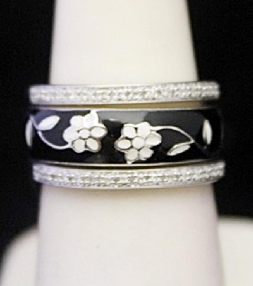 Fancy Silver Trio Rings with Diamonds