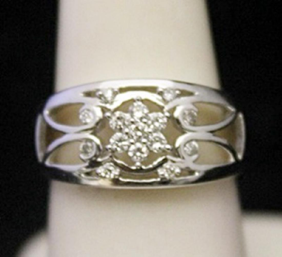 Beautiful Silver Ring with Diamonds