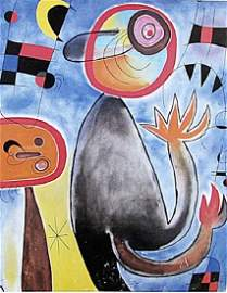 Echelles en Roue de Feu Traversant - Joan Miro -