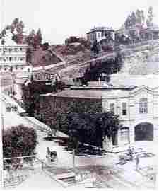 Downtown Los Angeles 1800's - Lithograph